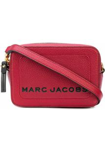 Marc Jacobs Bolsa Transversal The Box De Couro Vermelha - Vermelho