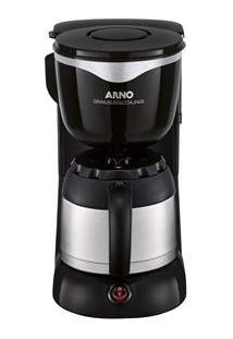 Cafeteira Arno Gran Perfectta Cafx Capacidade De 16 A 24 Cafés, Jarra Em Inox E Sistema Corta Pingos – Inox/Preto