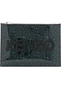 Kenzo Clutch Holiday Capsule Com Logo E Animal Print - Azul