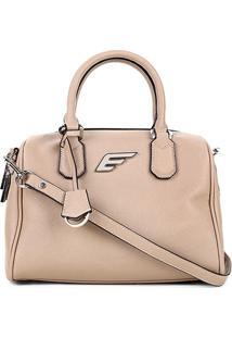 Bolsa Shopper Ellus Bowling Bag Feminina - Feminino-Areia