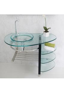 Gabinete Para Banheiro De Vidro Strauss Astra Gp-S Transparente