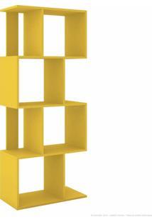 Estante Livreiro Com Nichos Esm 218 Amarelo - Móvel Bento