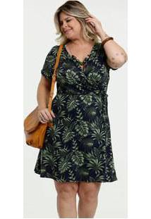Vestido Feminino Estampa Tropical Plus Size Marisa