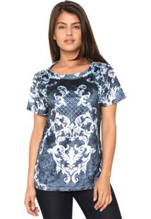 Camiseta Charry Veludo Midnight Azul