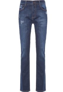 Calça Masculina Slim Luge 3D - Azul