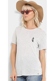 Camiseta Lez A Lez Silk Touch Mvs Feminino - Feminino-Cinza