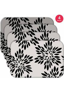 Jogo Americano Love Decor Wevans Flowers Kit Com 4 Pçs