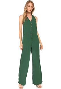 Macacão Colcci Pantalona Botões Verde