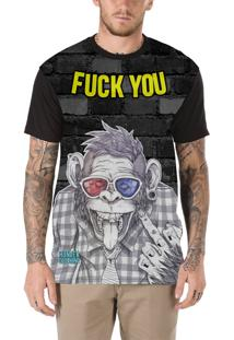 Camiseta Hunter Crazy Monkey Preta