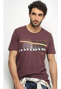 Camiseta Forum Estampada Masculina - Masculino-Marrom