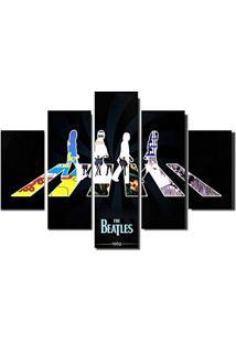 Quadro Painel Mosaico Decorativo 5 Partes Beatles 1960