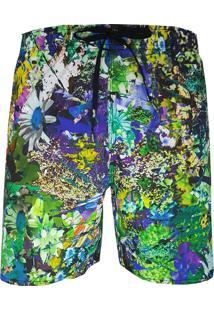 Shorts Alkary Floral Verde