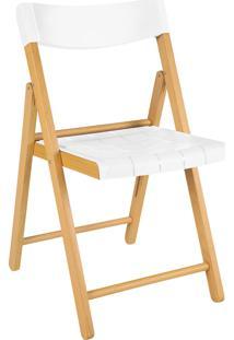 Cadeira Potenza Verniz C/ Branco Tramontina