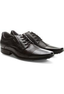 Sapato Social Couro Pegada Recortes Masculino - Masculino-Preto