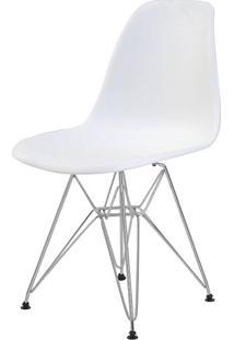 Cadeira Eames Eiffel Pp Branca Base Cromada - 44169 Sun House