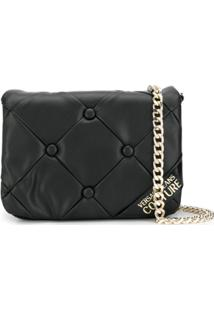 Versace Jeans Couture Quilted Shoulder Bag - Preto