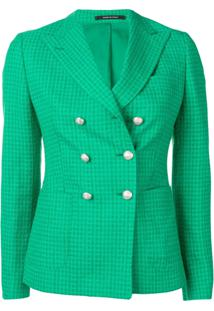 Tagliatore Double Breasted Check Blazer - Verde