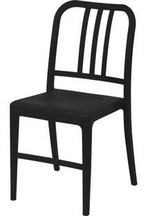 Cadeira Polipropileno Navy - Preta