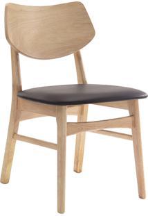 Cadeira Edna Natural E Café Rivatti Móveis