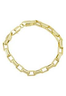 Pulseira Tudo Jóias Modelo Francesa Dourada