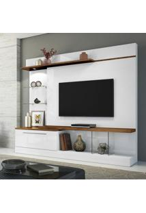 Estante Para Home Theater Allure Com Led Branco E Canyon 210 Cm