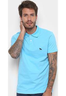Camisa Polo Acostamento Masculina - Masculino-Azul Claro