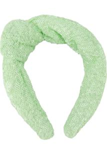 Be Blumarine Tiara Com Aplicação De Paetês - Verde