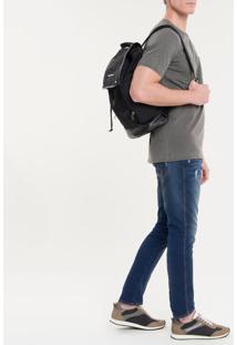 Mochila Ckj Masc Mono Flap Backpack 45 - Preto - U