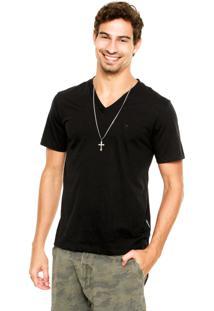 Camiseta Cavalera Slim Preta