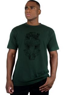 Camiseta Bleed American Faith Verde Musgo.