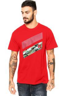 Camiseta Hurley Icon Slash Boardshort Fill Vermelho