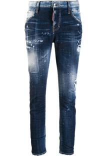 Dsquared2 Calça Jeans Skinny Destroyed - Azul