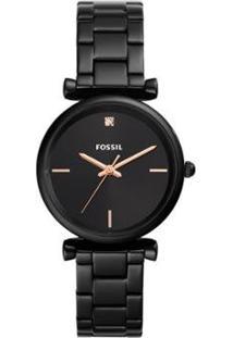 Relógio Fossil Carlie Feminino - Feminino-Preto