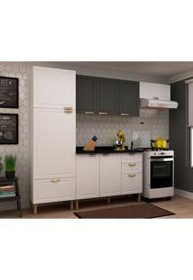 Cozinha Compacta Nevada Ii 8 Pt 4 Gv Branca E Grafite