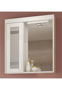 Espelheira Com Luminária 60X15Cm Mezzo Branco