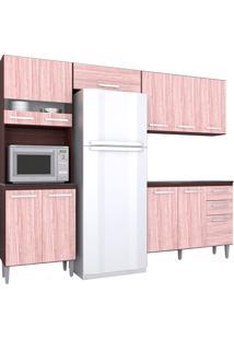 Cozinha Compacta 4 Peças Karina -Poquema - Capuccino / Amêndoa