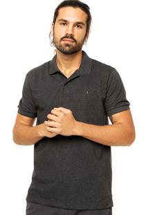 Camisa Polo Aramis Regular Fit Piquet Grafite