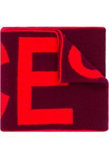 Paul Smith Cachecol Com Contraste - Vermelho