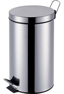 Lixeira Em Aço Inox C/ Pedal Ágata Mor 5 Litros