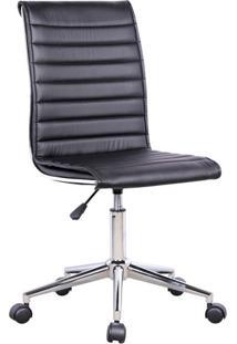 Cadeira De Escritório Secretária Giratória Marilyn Plus Preta