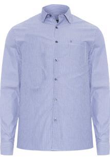 Camisa Masculina Listras - Azul