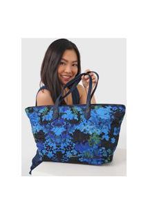 Bolsa Desigual Shopping Bag Camoflower Azul-Marinho