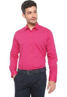 Camisa Forum Reta Logo Rosa