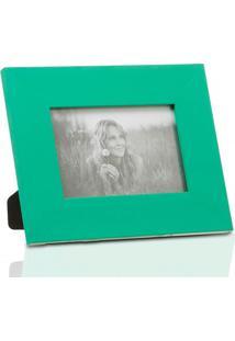 Porta Retrato Em Madeira Monte Carlo 10X15Cm Verde