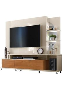 "Home Para Tvs Até 55"" Elegance Off White / Damasco"