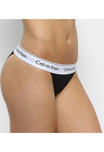 Calcinha Tanga Calvin Klein Cós Elástico - Feminino
