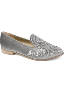 Sapato Oxford Veludo Flamarian - 44007-Cz-Cinza-34
