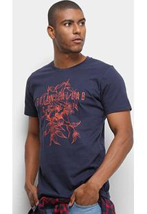 Camiseta Colcci Botanicallab Masculina - Masculino-Azul Escuro