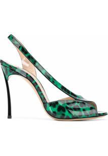 Casadei Sandália Com Estampa De Leopardo - Verde