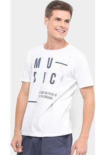Camiseta Burn Music Sounds Better Masculina - Masculino